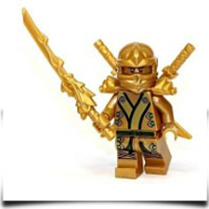 On SaleNinjago The Gold Ninja With 3 Weapons